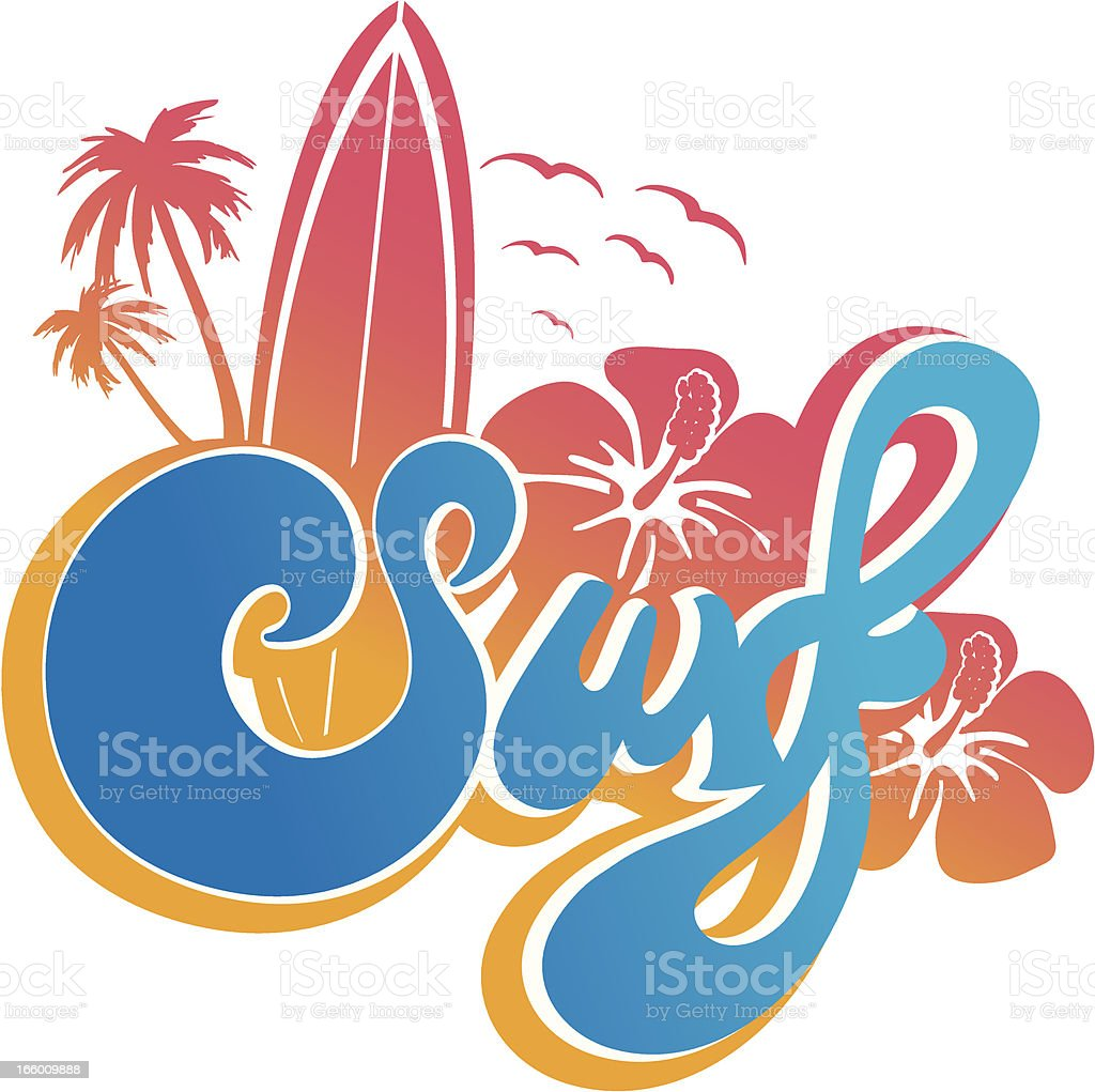 Surf type emblem royalty-free stock vector art