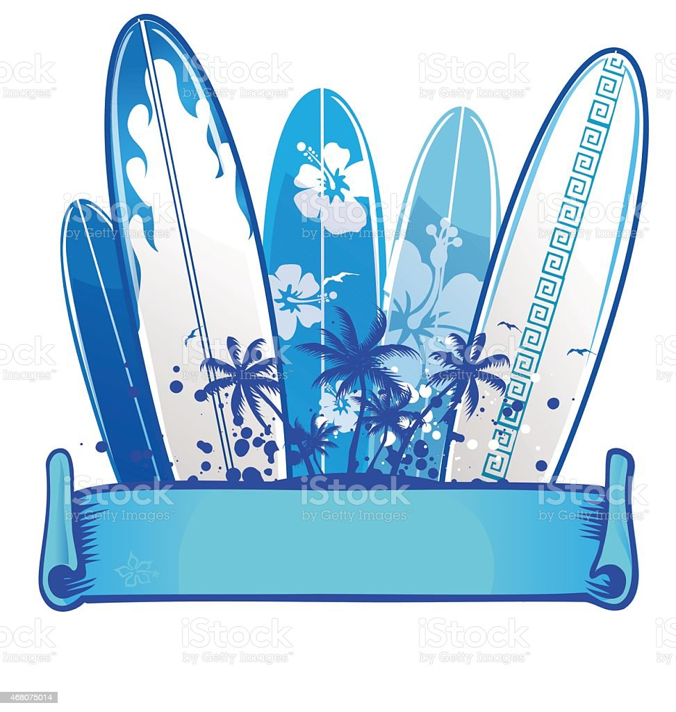 surfboard background vector art illustration