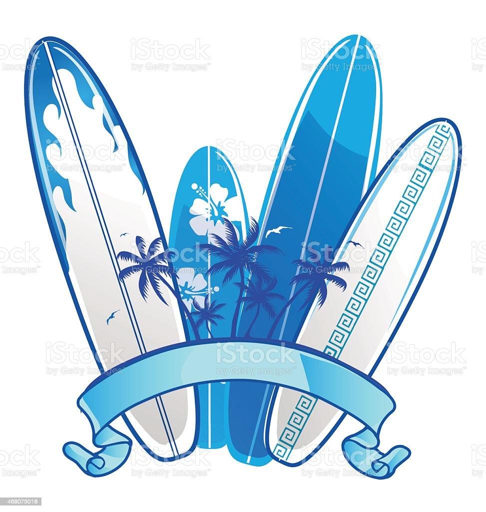 surfboard background vector art illustration