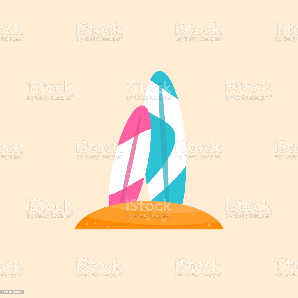 衝浪板向量平面材料設計物件。 - 免版稅俄羅斯圖庫向量圖形