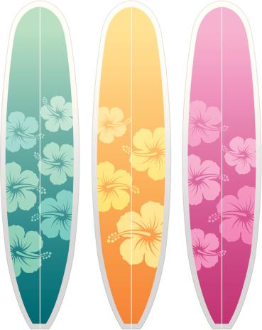 Surfboards hibiscus