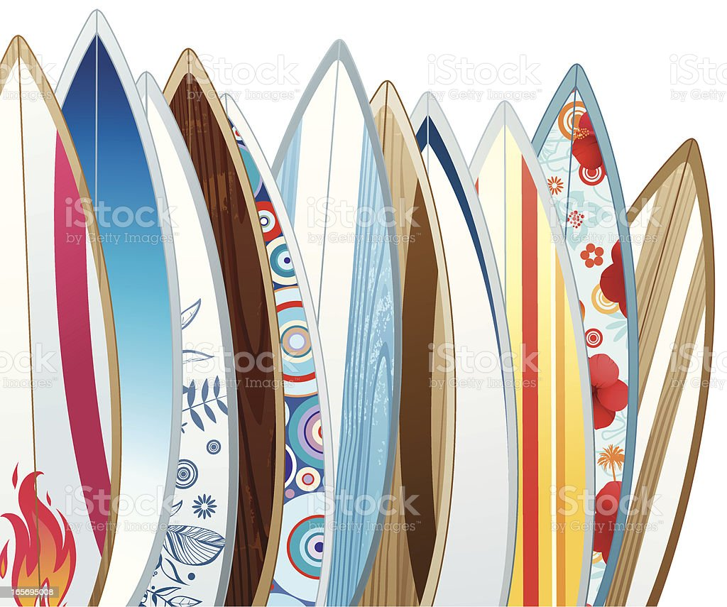 Surfboards royalty-free surfboards stock vector art & more images of activity