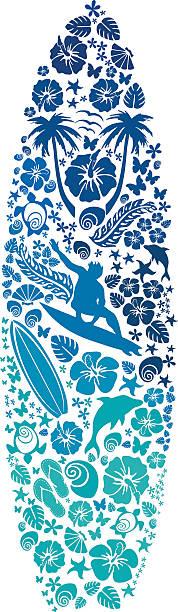 surfborad サーフィンのアイコン - サーフィン点のイラスト素材/クリップアート素材/マンガ素材/アイコン素材