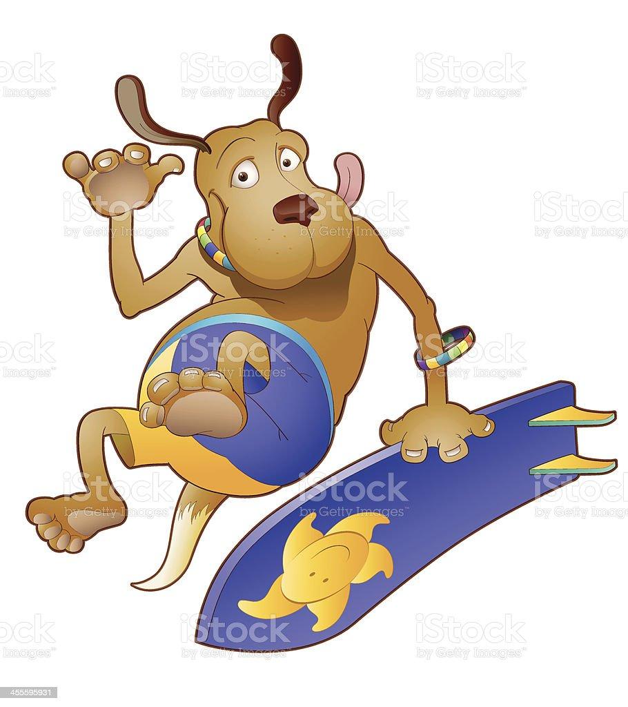 Surfer Dog royalty-free stock vector art