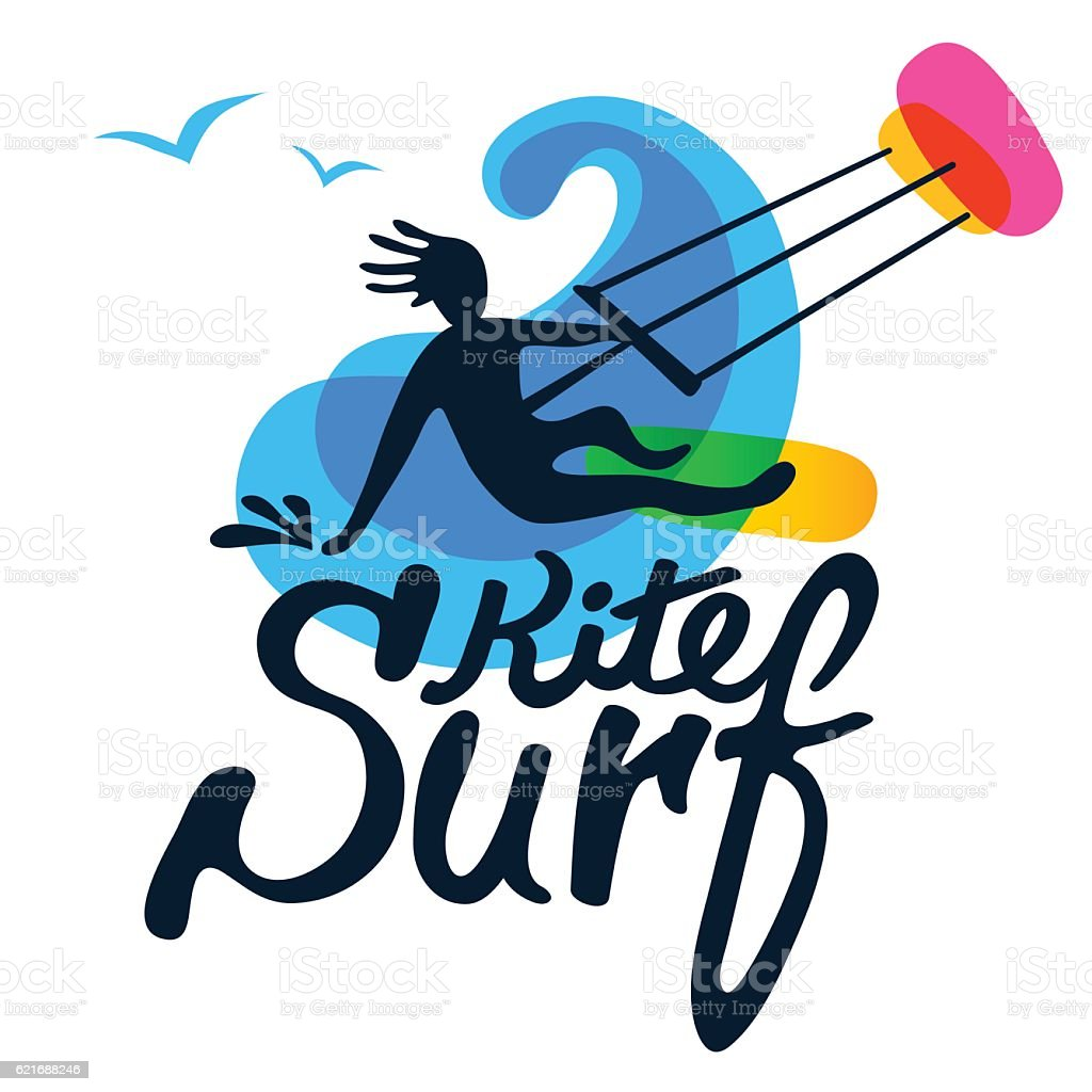Surfer logo template.