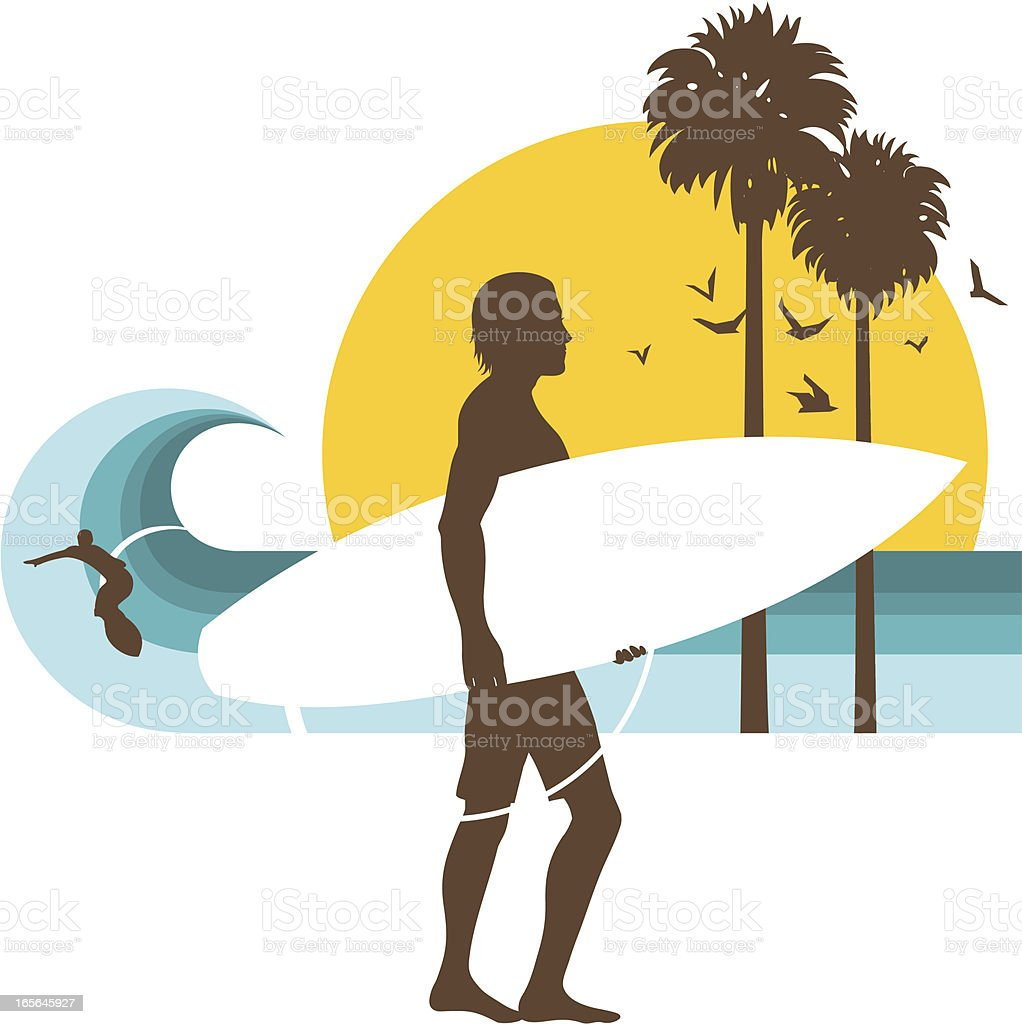 Surfer (surf-up series) royalty-free stock vector art