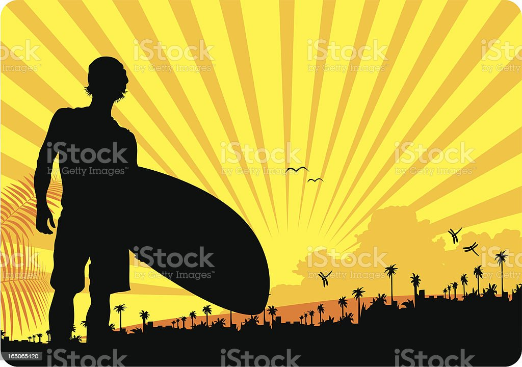 Surfer - Vector royalty-free stock vector art