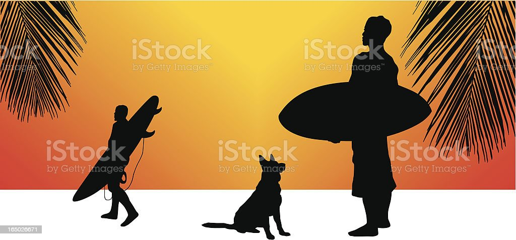 Surfers Summer royalty-free surfers summer stock vector art & more images of art