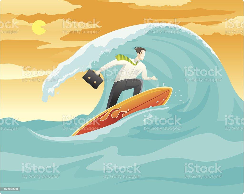 Surf en ligne d'affaires - Illustration vectorielle