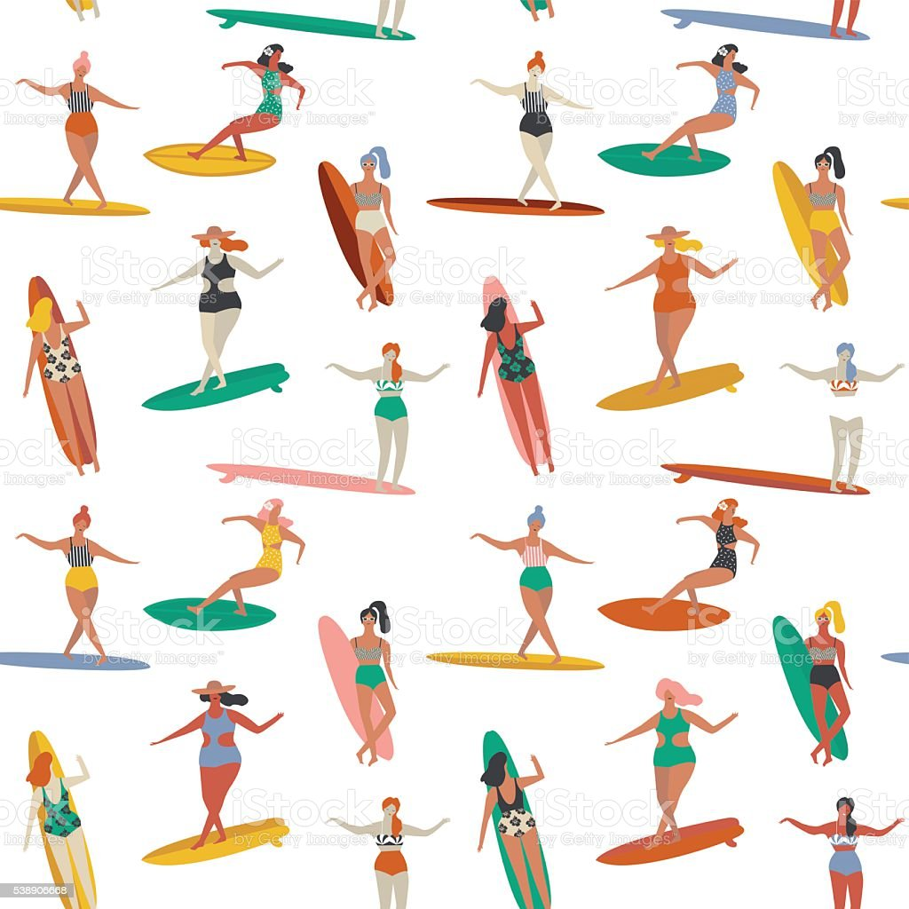 Surfing illustration in vector. vector art illustration