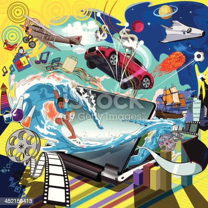 surfing in cyberspace