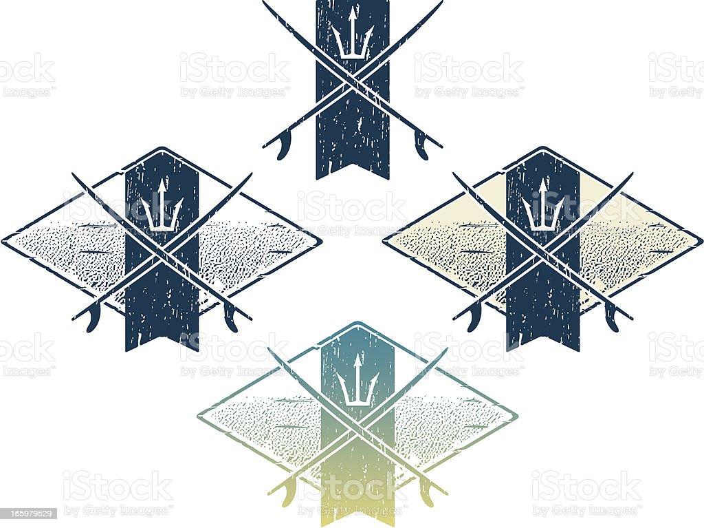 surfing logo vector art illustration