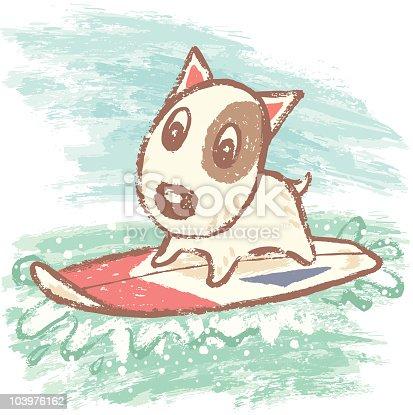 istock Surfing of bullterrier 103976162
