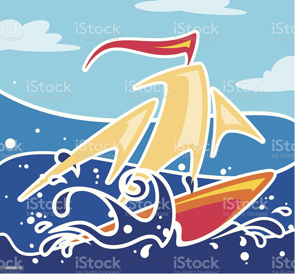 Surfing or Sailing royalty-free surfing or sailing stock vector art & more images of beach