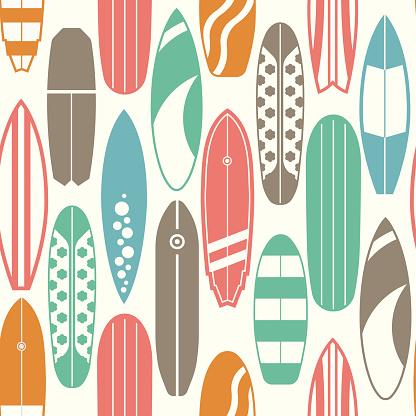 Surfing Pattern Background