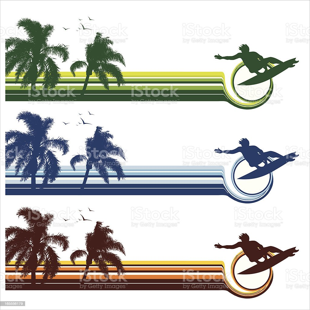 surfing stripes royalty-free stock vector art