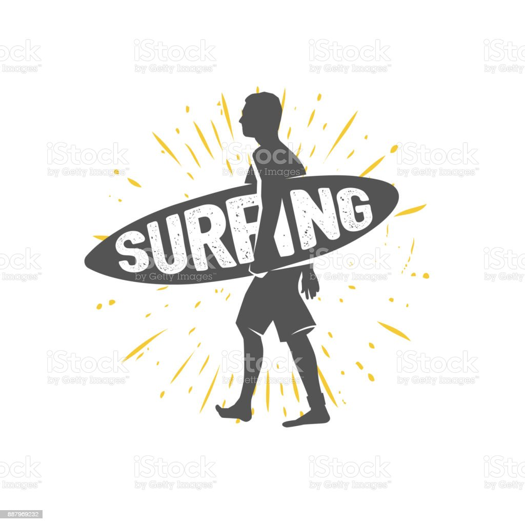 b406ac1be9a49 Símbolos de surf. Montar la ola. Jinete de surf. ilustración de símbolos de