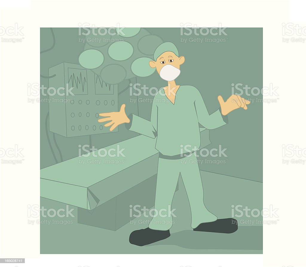 surgeon royalty-free stock vector art