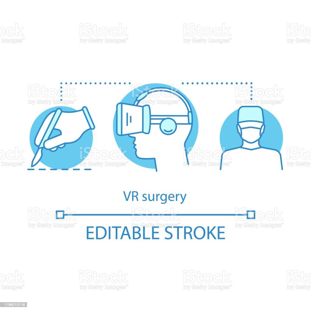 VR手術概念圖示 - 免版稅360 度景象圖庫向量圖形