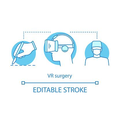 Vr手術概念圖示向量圖形及更多360 度景象圖片