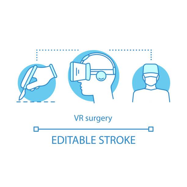 vr手術概念圖示 - medical technology 幅插畫檔、美工圖案、卡通及圖標