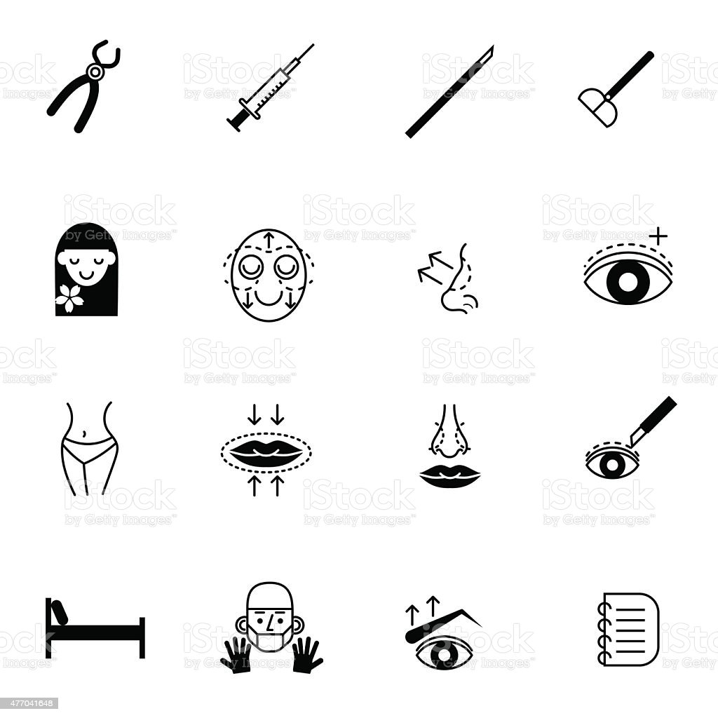 surgery icons set vector illustration vector art illustration
