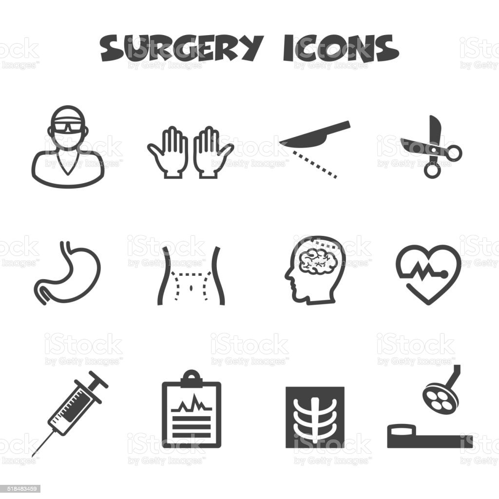 surgery icons vector art illustration