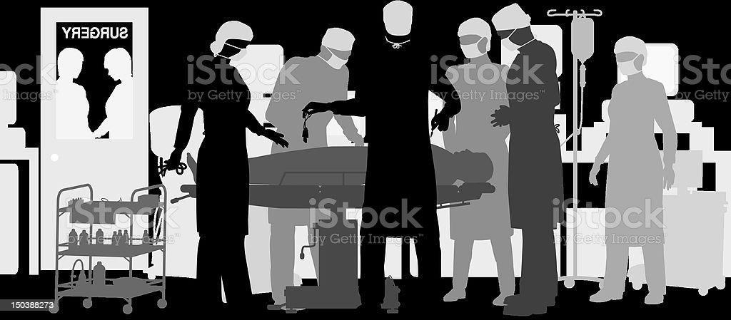 Surgery vector art illustration