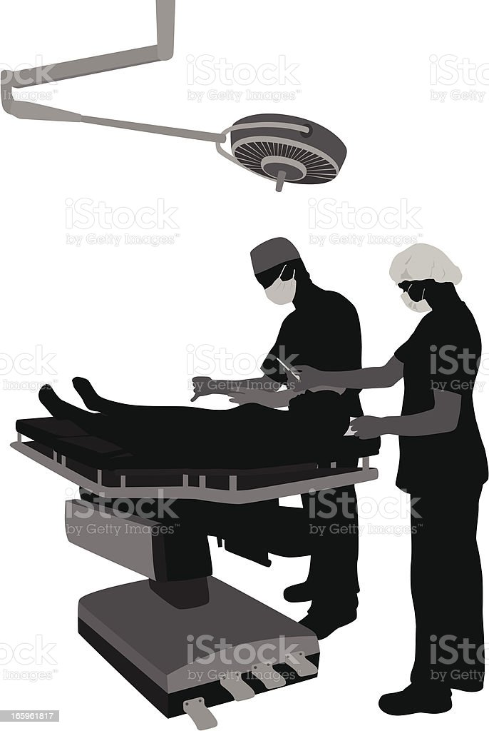 Surgery Vector Silhouette vector art illustration