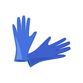 Surgical gloves vector illustration