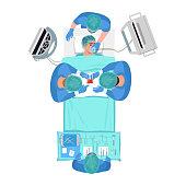 istock Surgical procedure semi flat RGB color vector illustration 1255905614