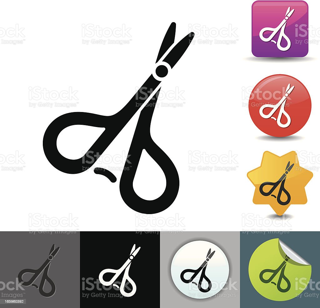 Surgical scissors icon | solicosi series royalty-free surgical scissors icon solicosi series stock vector art & more images of clip art