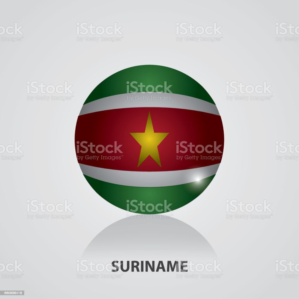 Suriname - Flags of South America Vector Illustration royalty-free suriname flags of south america vector illustration stock vector art & more images of 2017