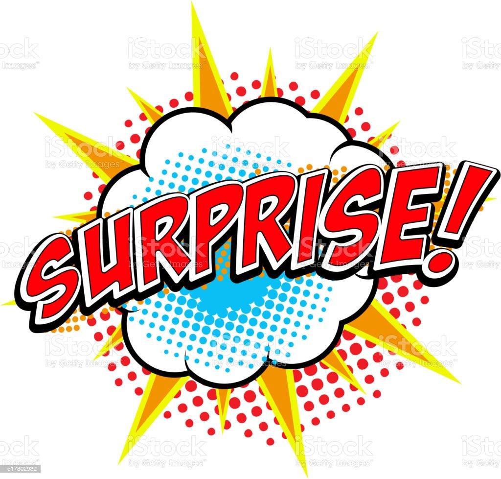 Surprise! Comic style phrase. vector art illustration