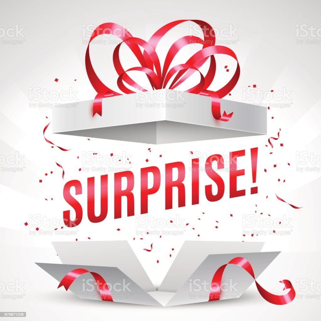 Surprise gift box vector art illustration