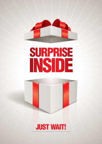 niespodzianka wewnątrz - gift stock illustrations