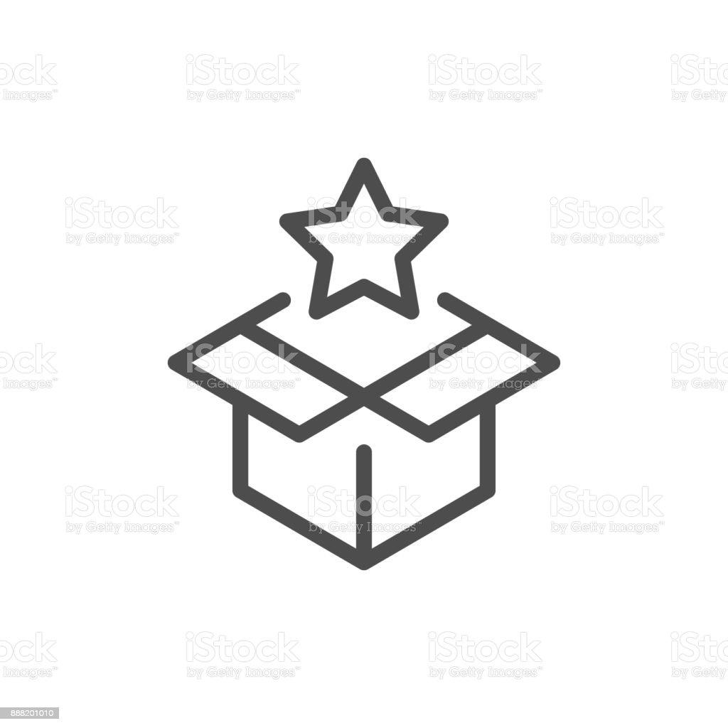 Ícone de linha de surpresa - ilustração de arte em vetor