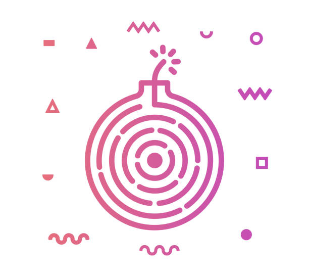 Surprise Line Style Icon Design Surprise outline style icon design with decorations and gradient color. Line vector icon illustration for modern infographics, mobile designs and web banners. explosive fuse stock illustrations