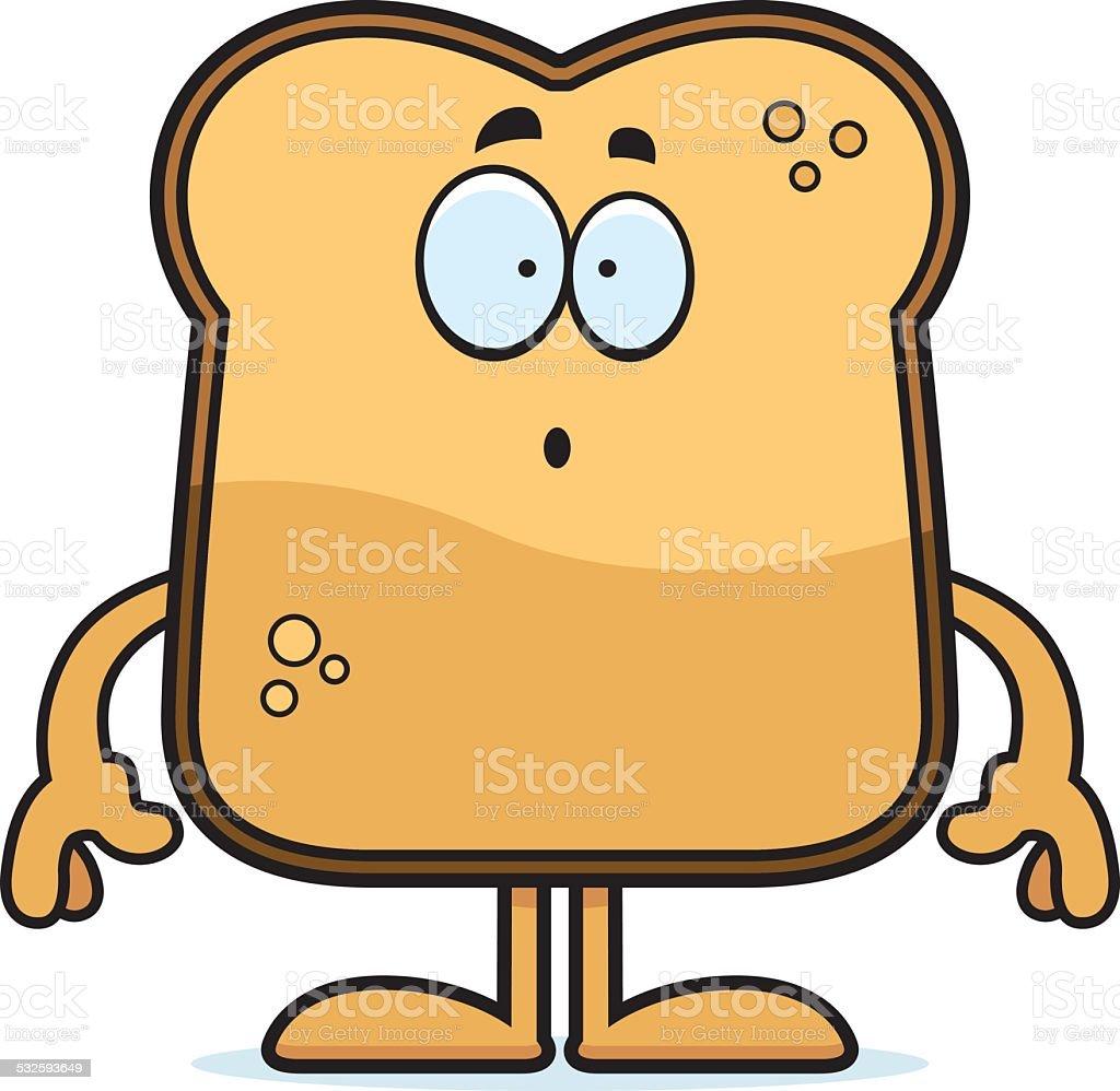 Surprised Cartoon Toast vector art illustration
