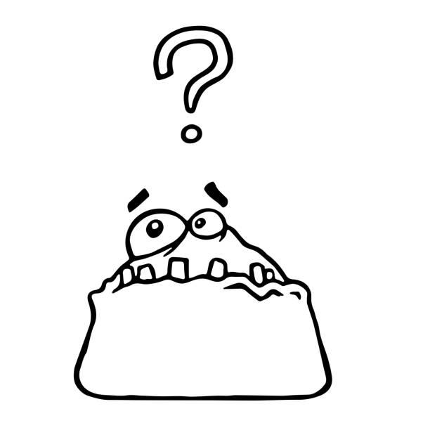 gerinnsel monster schwamm schreit überrascht. cartoon cool isoliert zeichen freihandzeichnen. - extravagant schutzbrille stock-grafiken, -clipart, -cartoons und -symbole