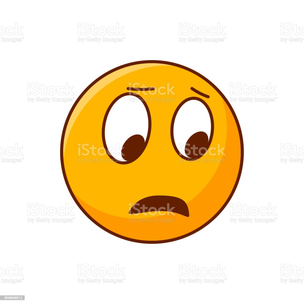Surprised emoji disgusted smiley editable vector emoticon royalty free surprised emoji disgusted smiley