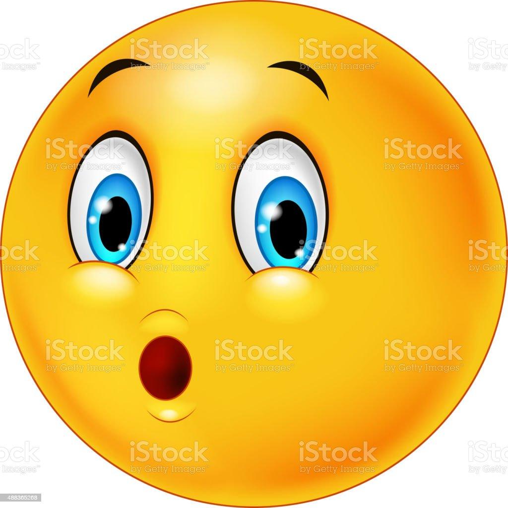 emoticon de rosto de surpresa dos desenhos - ilustração de arte em vetor