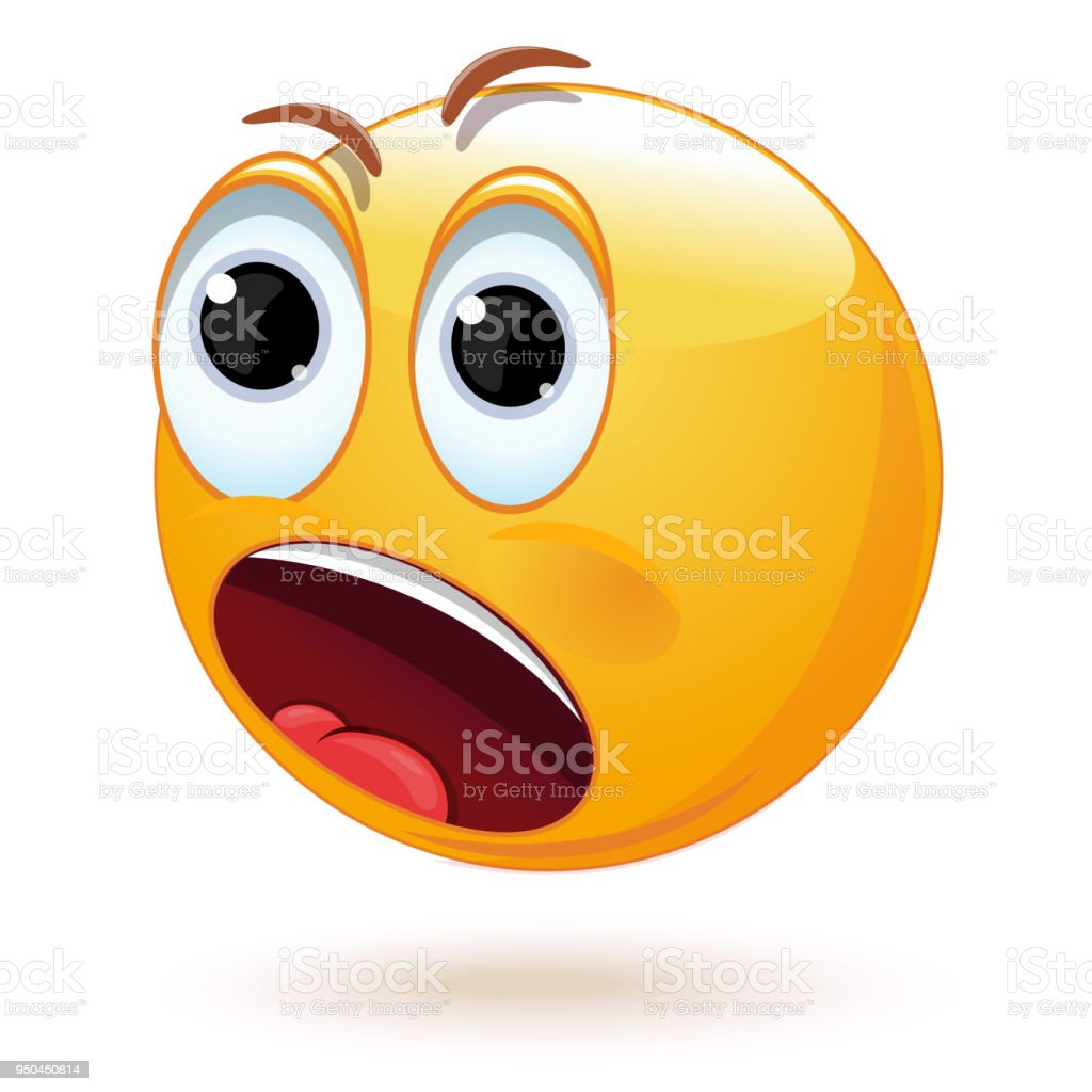 Smiley surpris ou effrayé - Illustration vectorielle
