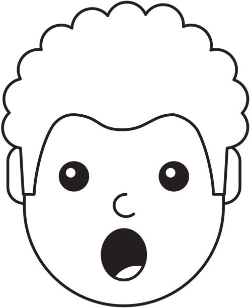 surpris de jeune homme avatar personnage - Illustration vectorielle