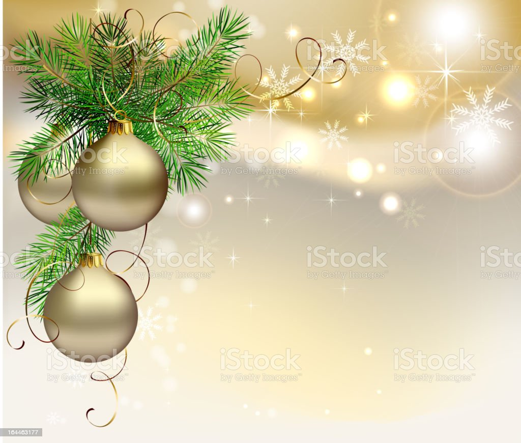 Surreal image of Christmas decoration on golden background royalty-free surreal image of christmas decoration on golden background stock vector art & more images of beige