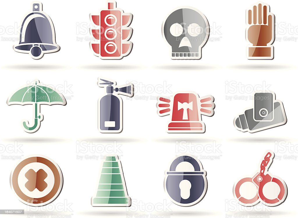 Surveillance and Security Icons royalty-free stock vector art