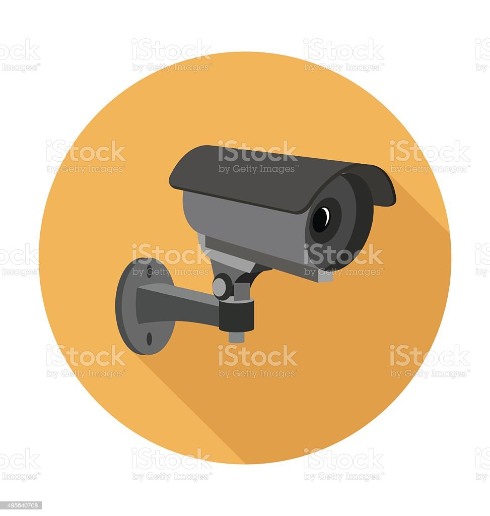 Surveillance Camera Colored Vector Illustration vector art illustration