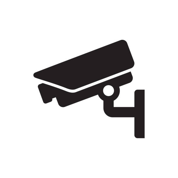 Surveillance camera Icon Electronics - Surveillance camera Icon security equipment stock illustrations