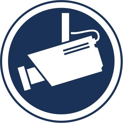 Símbolo De Vigilância Câmara - Arte vetorial de stock e mais imagens de Alarme Antirroubo