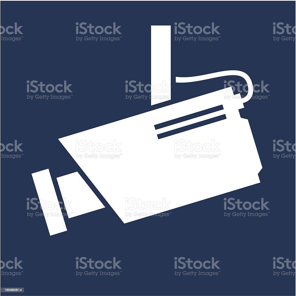 surveillance camera symbol vector art illustration